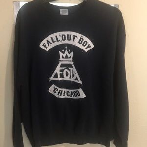 Fall Out Boy sweatshirt in size large. Navy blue